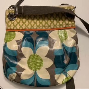 "Fossil coated canvas ""Key-per"" crossbody purse"